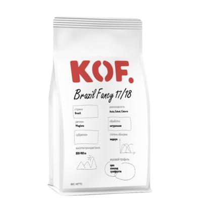 Кофе зерновой Brazil Fancy 17/18 оптом